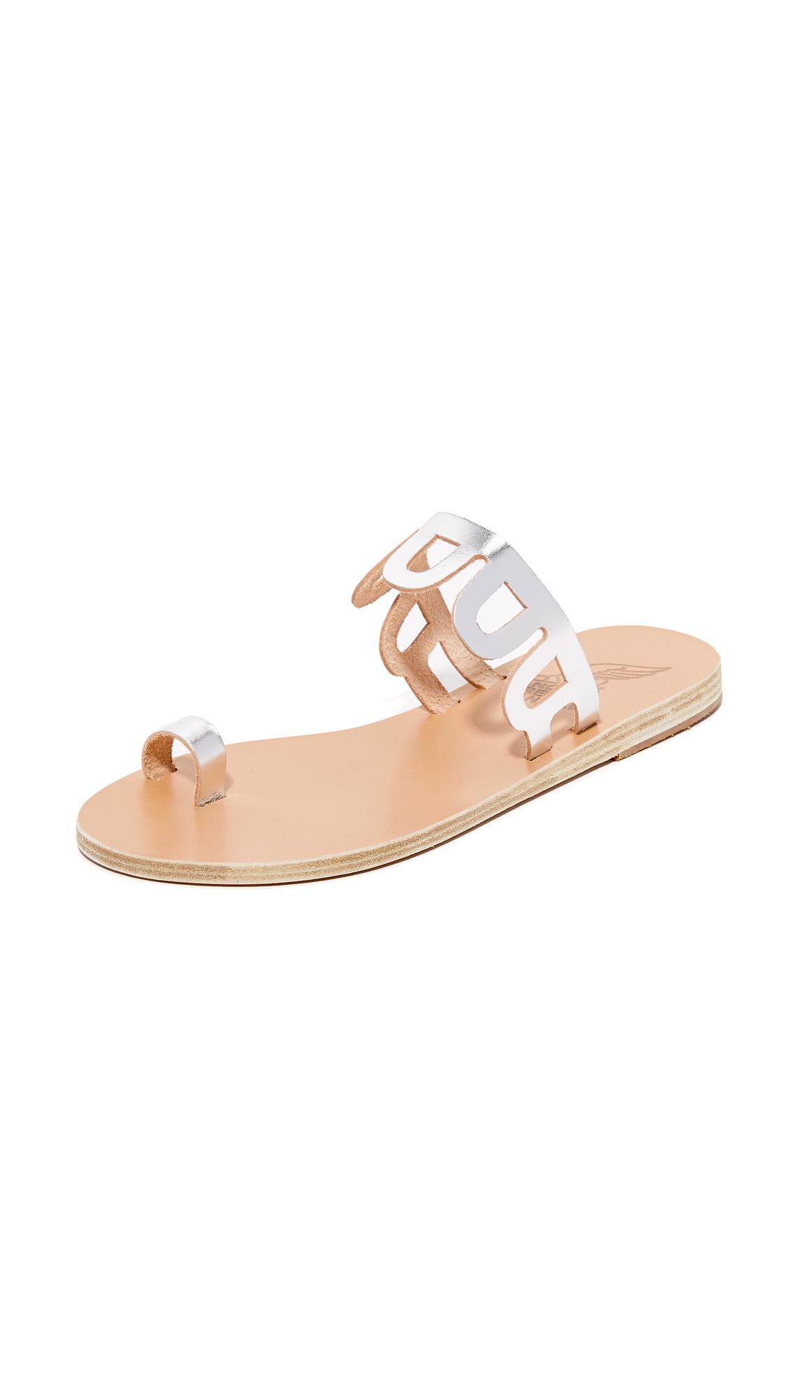 Ancient Greek Sandals Venus Toe Ring Slides - Silver at Shopbop