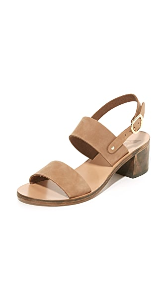 Ancient Greek Sandals Lefki Block City Sandals - Cappuccino