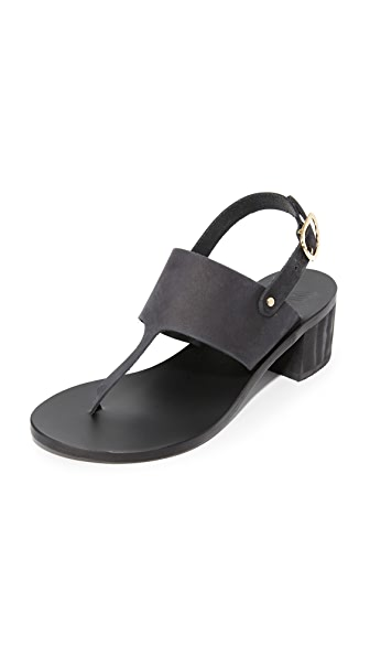 Ancient Greek Sandals Armonia Block City Sandals - Black