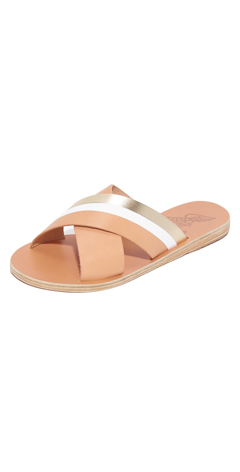 Thais Crisscross Slides Ancient Greek Sandals