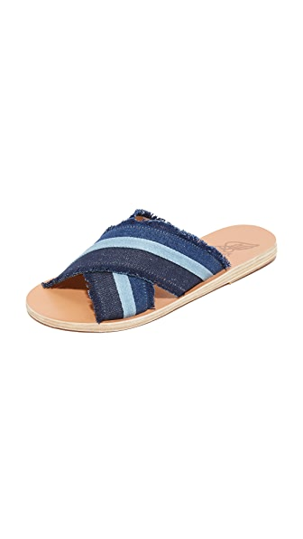 Thais Denim Slides