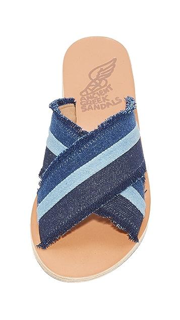 Ancient Greek Sandals Thais Denim Slides