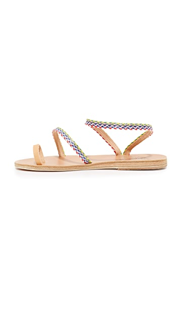 Ancient Greek Sandals Alpi Eleftheria Rafia Sandals