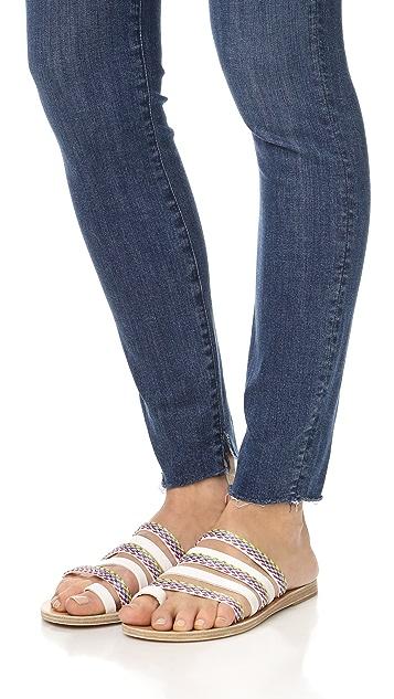 Ancient Greek Sandals Niki Rafia Slides