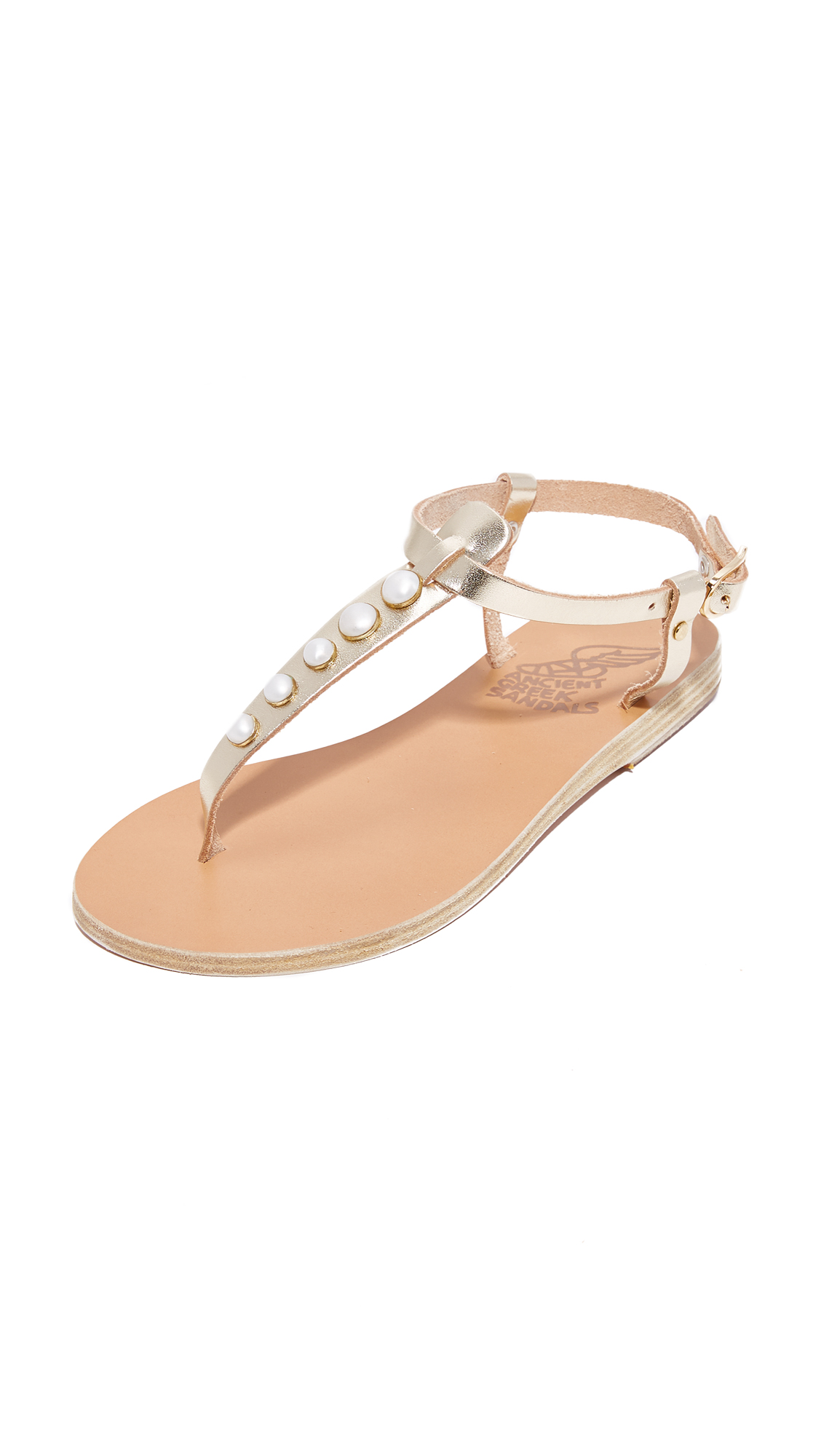 Ancient Greek Sandals Lito Sandals - Platinum