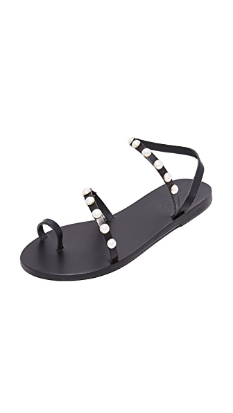 Ancient Greek Sandals Alpi Eleftheria Perals Sandals