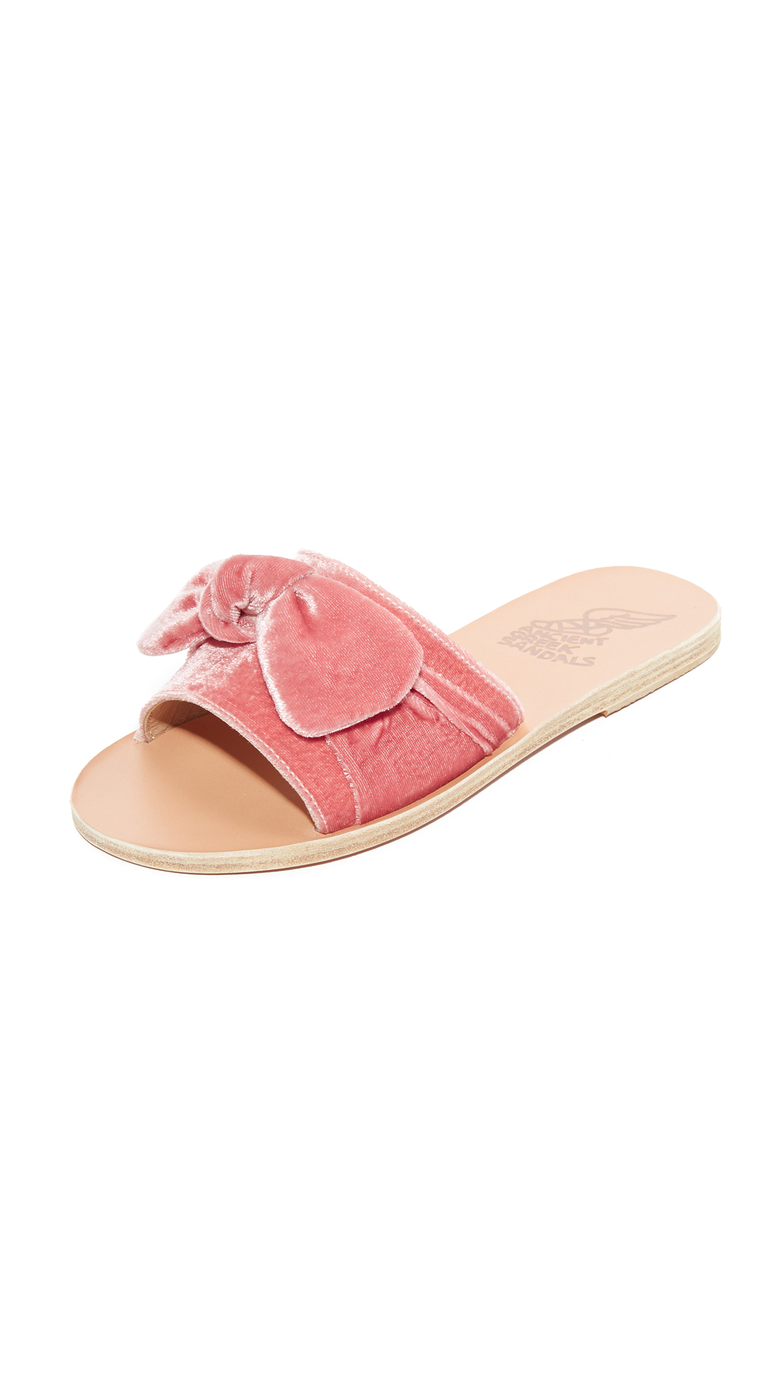 Ancient Greek Sandals Taygete Bow Slides - Dusty Pink