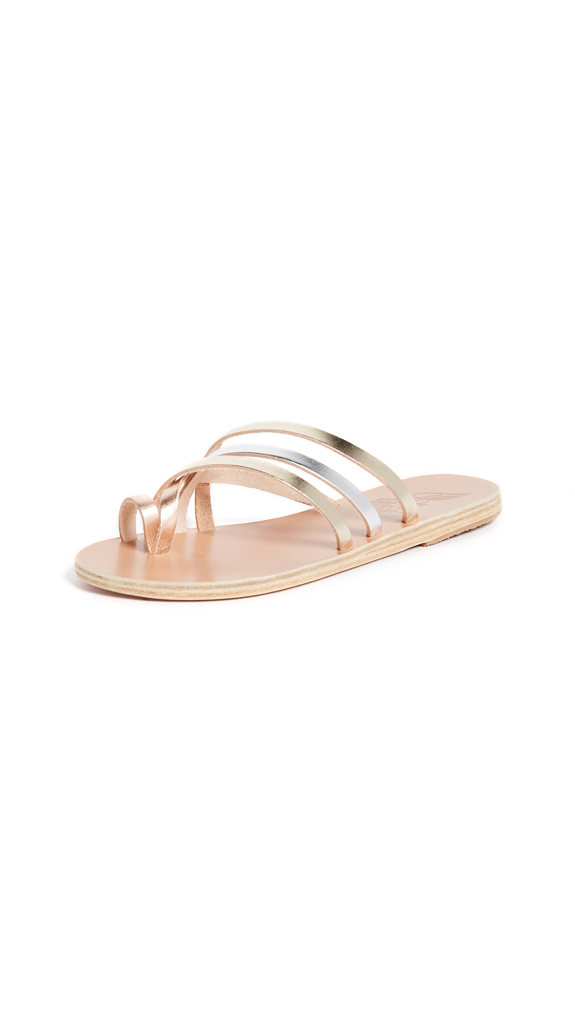 Ancient Greek Sandals Apli Amalia Sandals - Metallic Mix