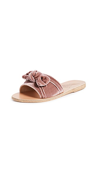 Ancient Greek Sandals Taygete Bow Slide Sandals