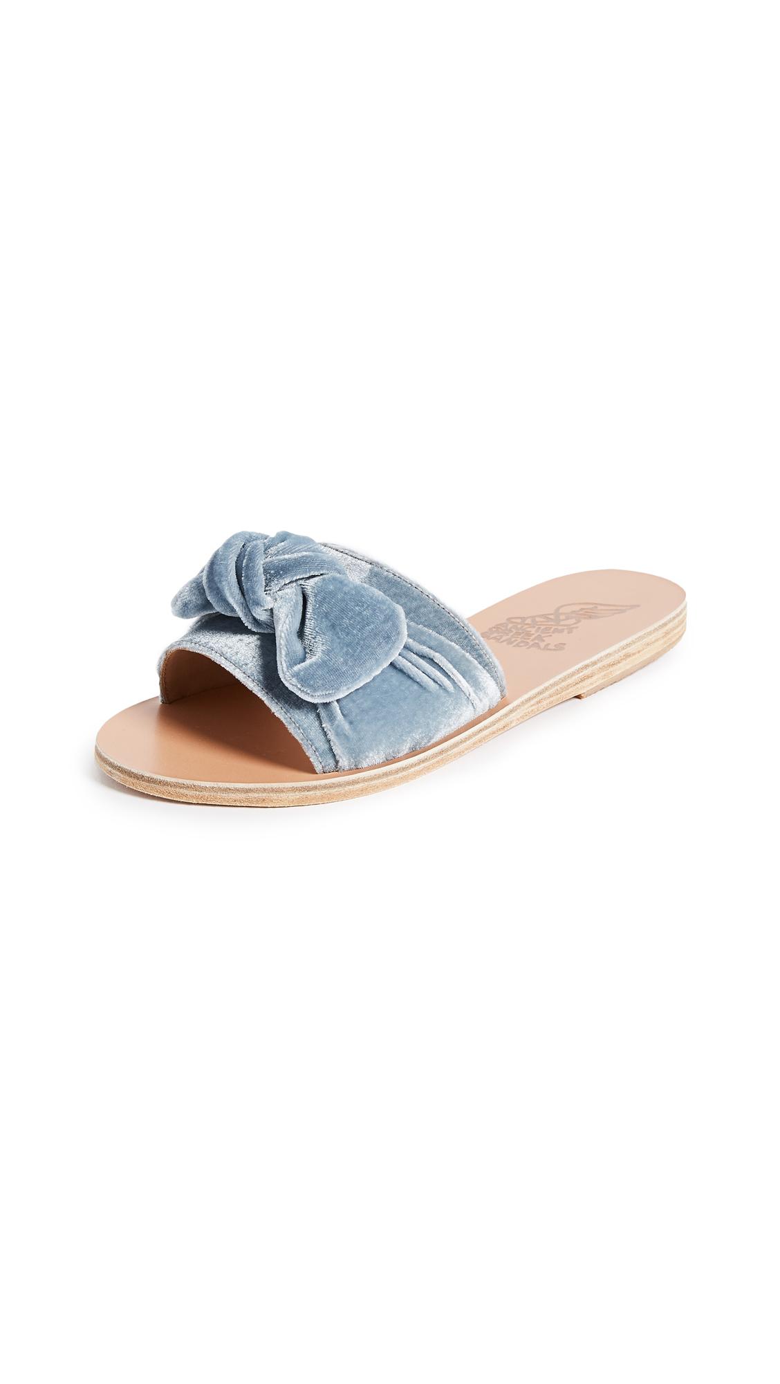Ancient Greek Sandals Taygete Bow Slide Sandals - Azur
