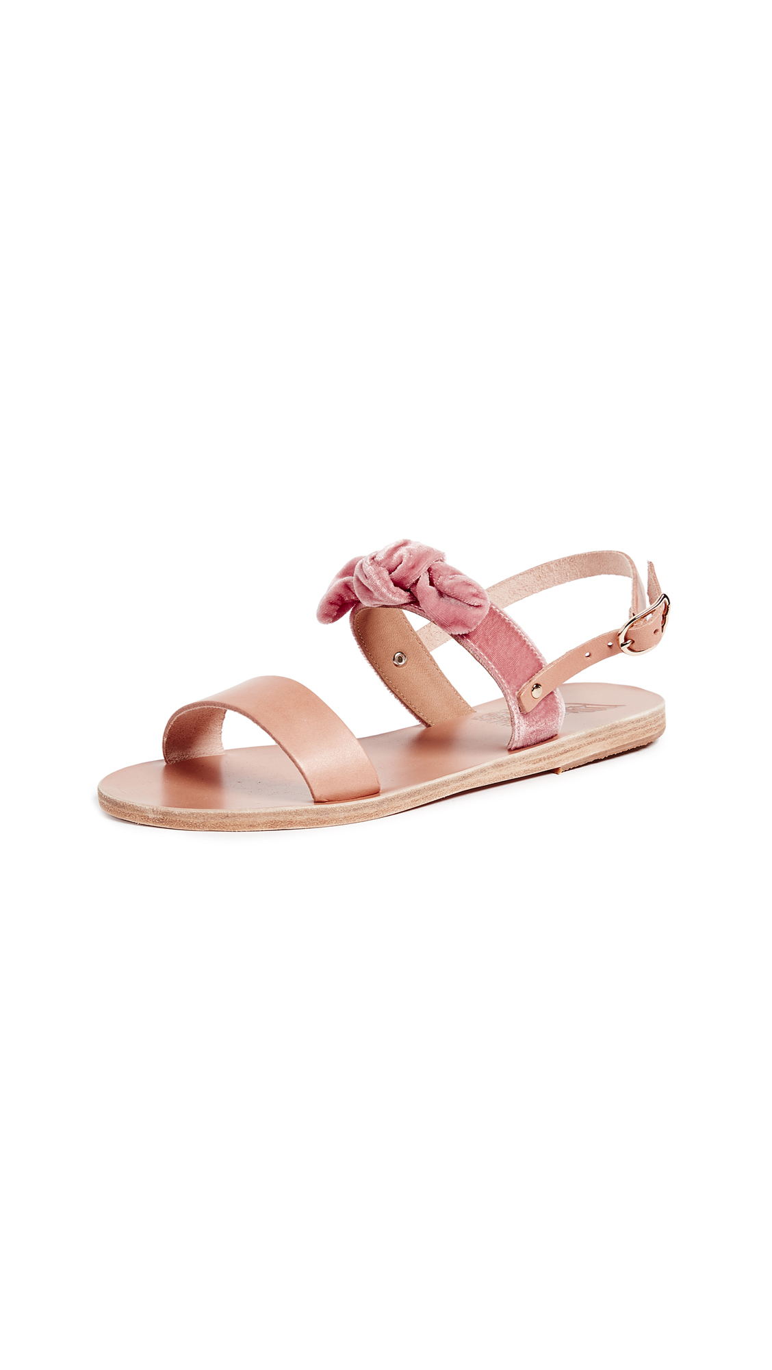 Ancient Greek Sandals Clio Bow Sandals - Natural/Dusty Rose
