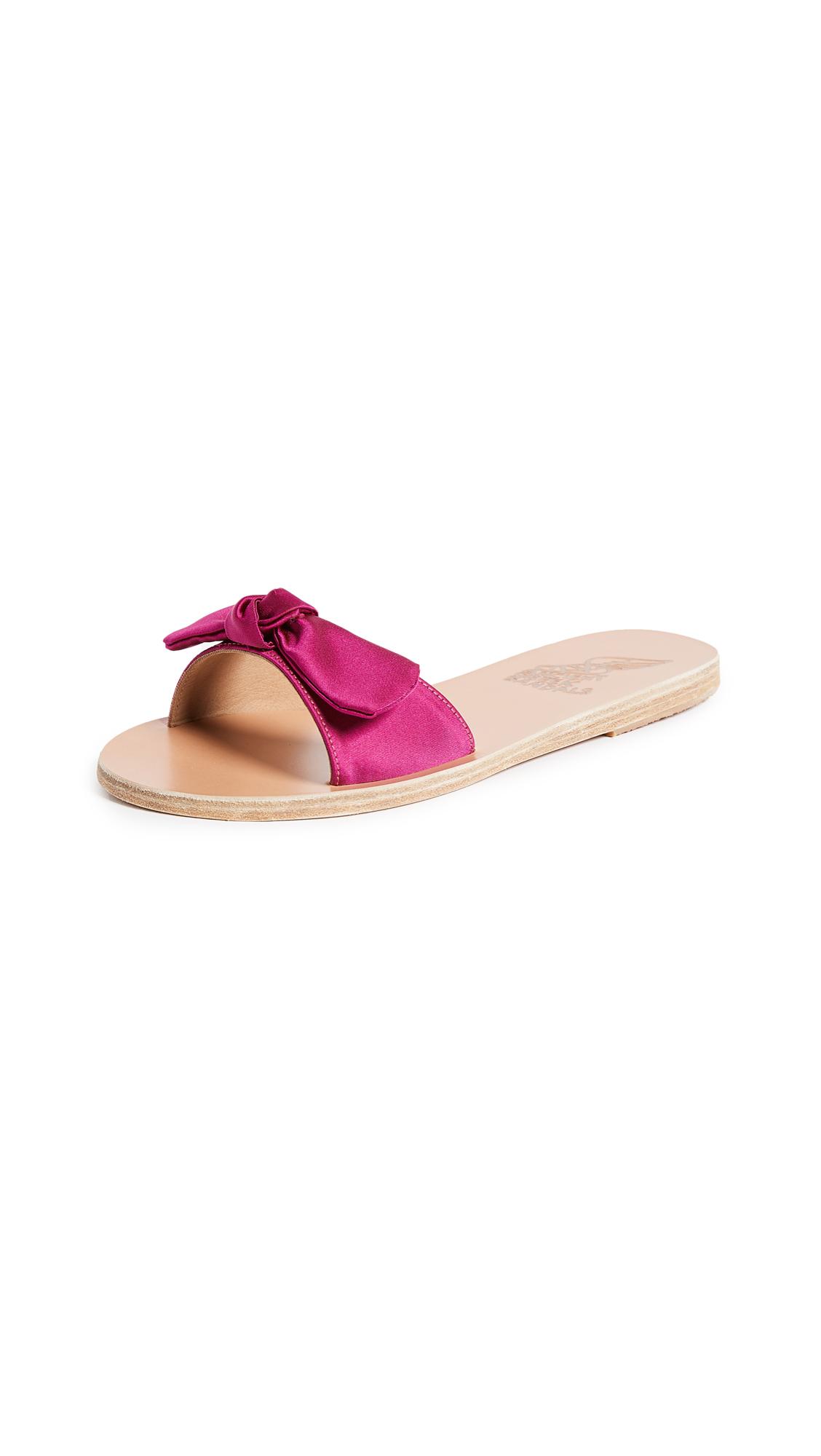 Ancient Greek Sandals Alki Bow Slide Sandals - Cassis
