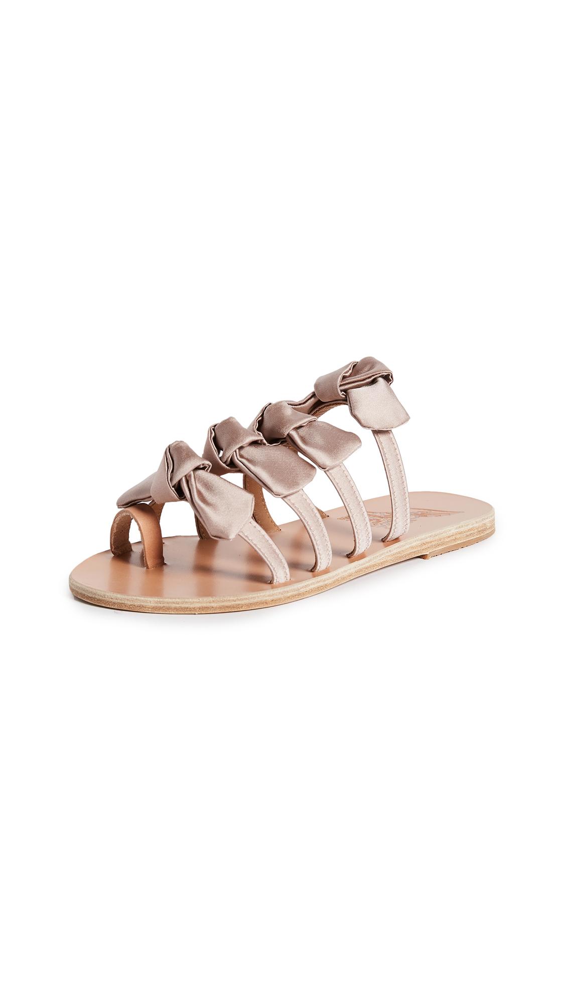 Ancient Greek Sandals Hara Bow Slide Sandals - Natural/Lotus