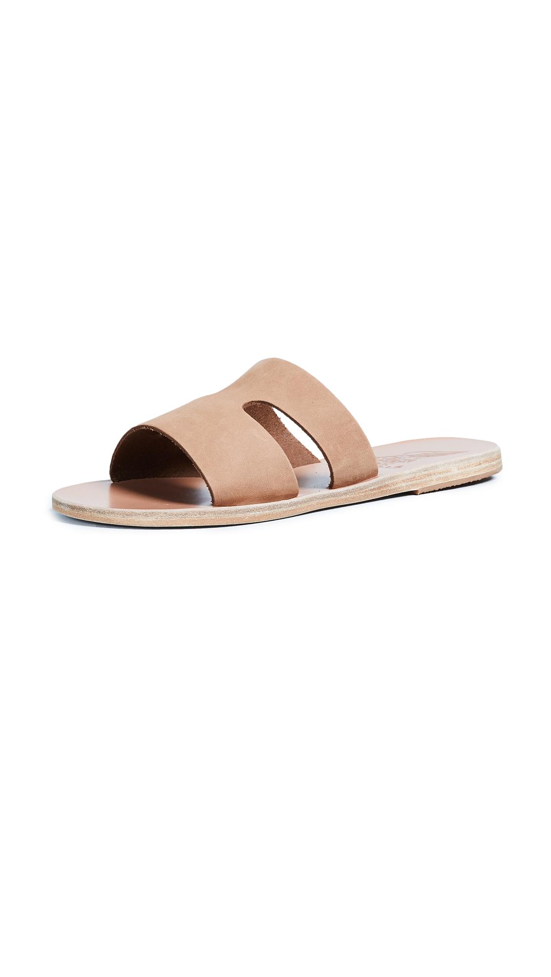 Ancient Greek Sandals Apteros Slide - Cappuccino