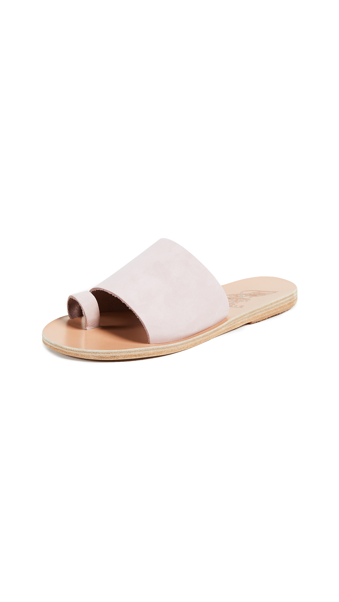 Ancient Greek Sandals Ligia Toe Ring Slides - Pink