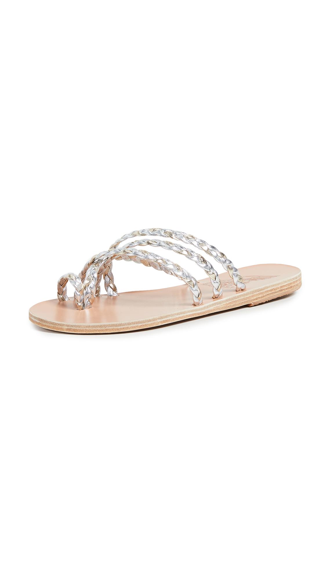 Ancient Greek Sandals Amalia Toe Ring Sandal - Silver/Platinum