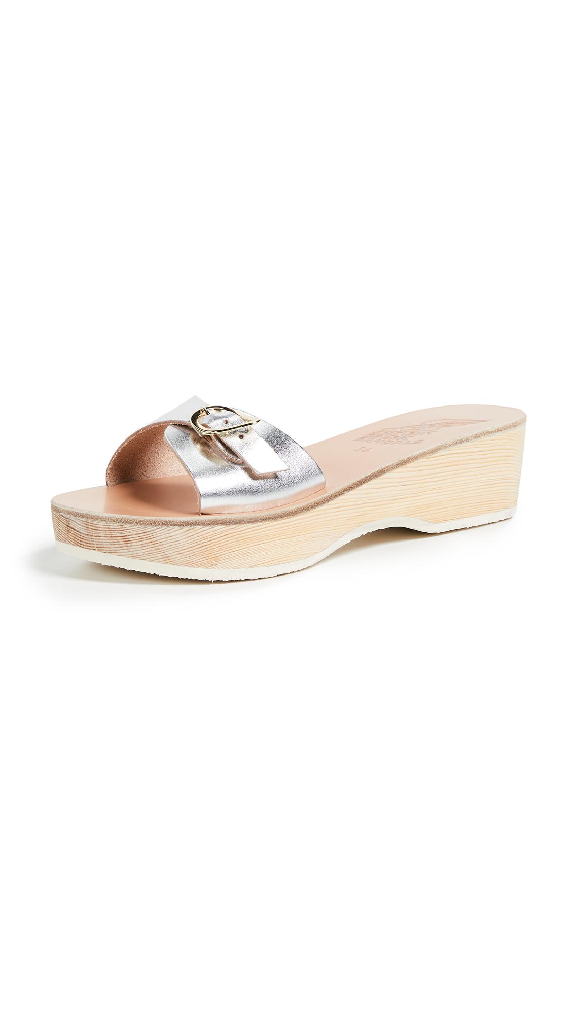 Ancient Greek Sandals Filia Sabot Slide - Silver