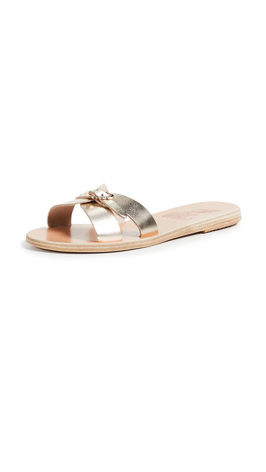 Ancient Greek Sandals Anna Slide - Platinum
