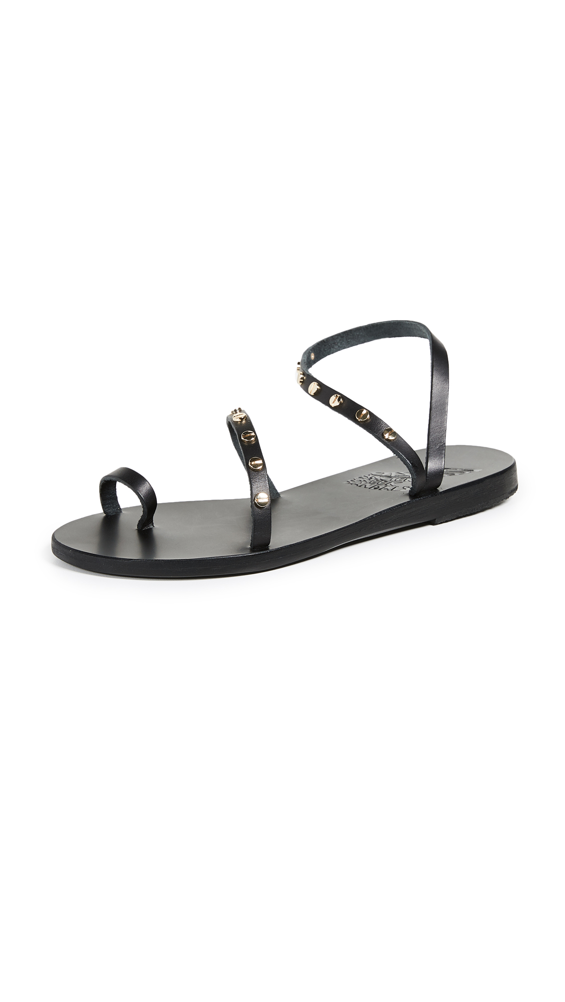 Ancient Greek Sandals Apli Eleftheria Slide Sandals - Black