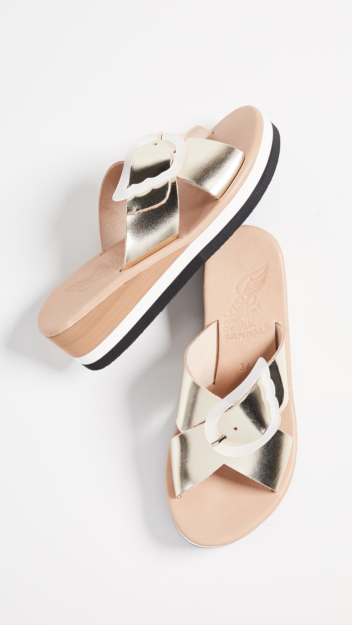 e67e1e3ae63 Ancient Greek Sandals Thais Rainbow Slide Sandals