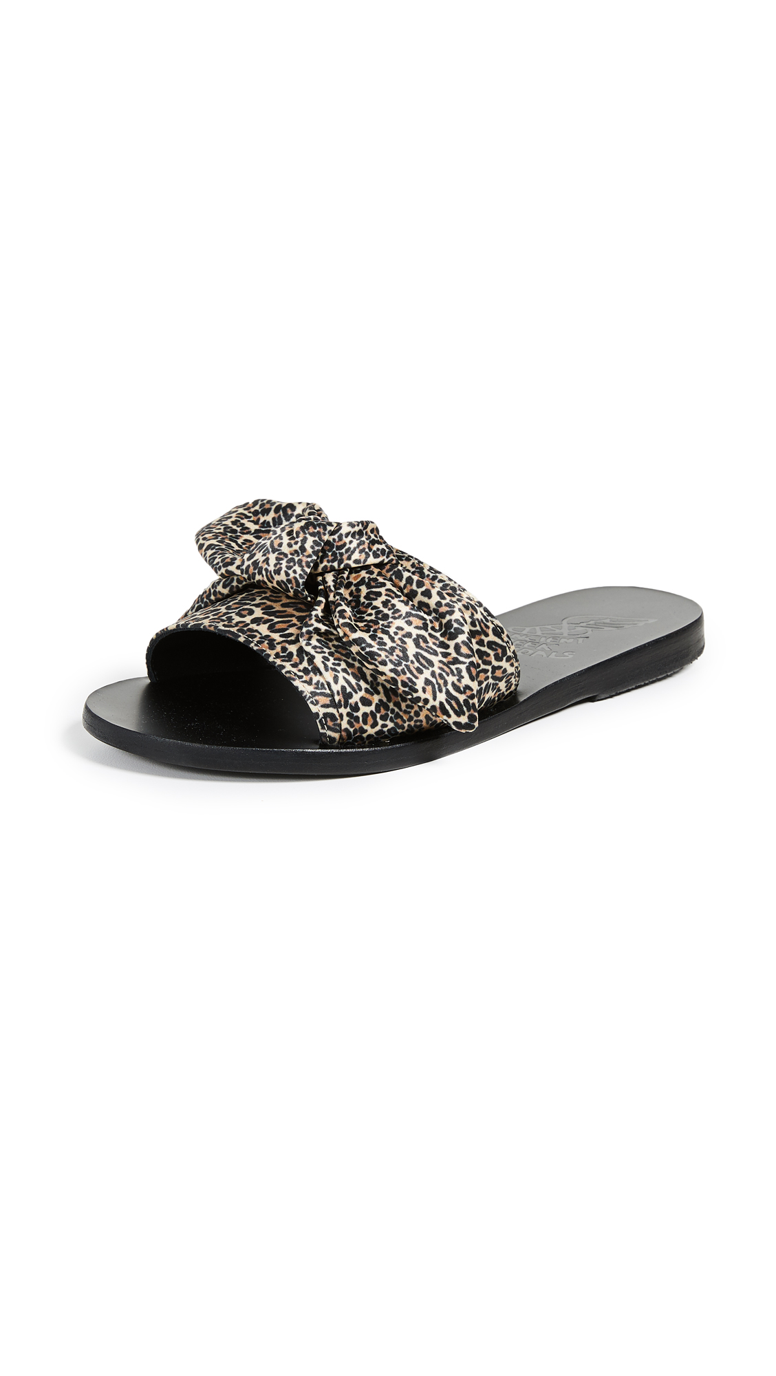 Ancient Greek Sandals Taygete Bow Slide Sandals - Leopard