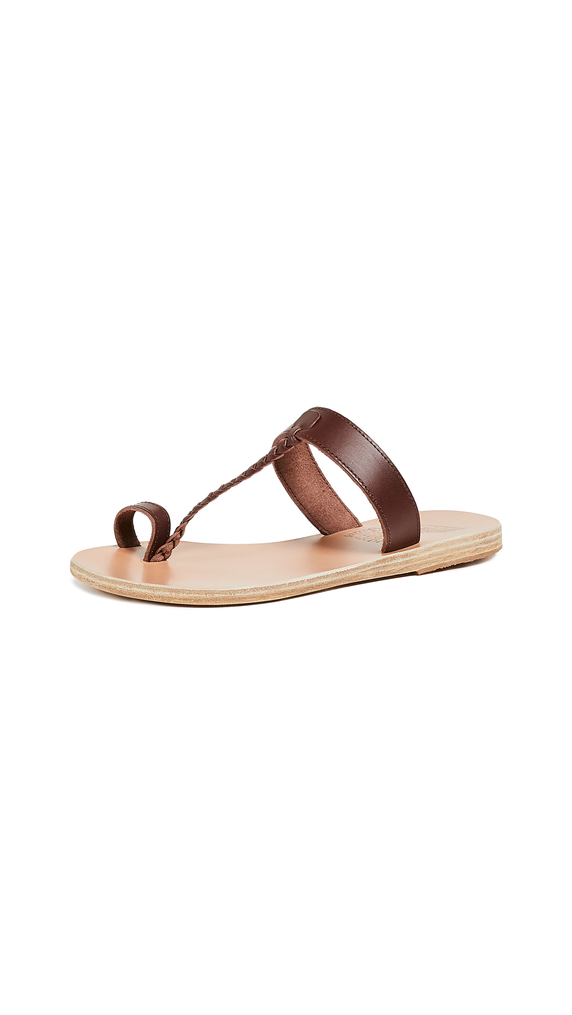 Ancient Greek Sandals Melpomeni Slide Sandals - Chestnut