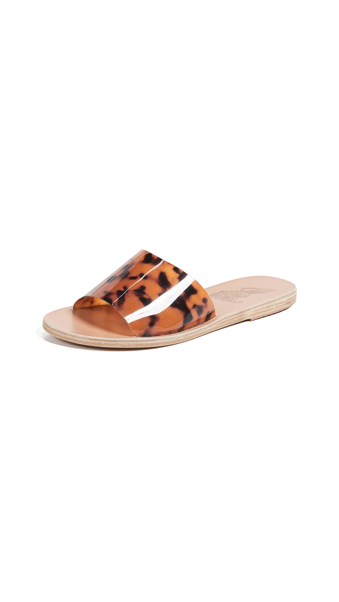 Ancient Greek Sandals Taygete Vinyl Slides - Tortoishell