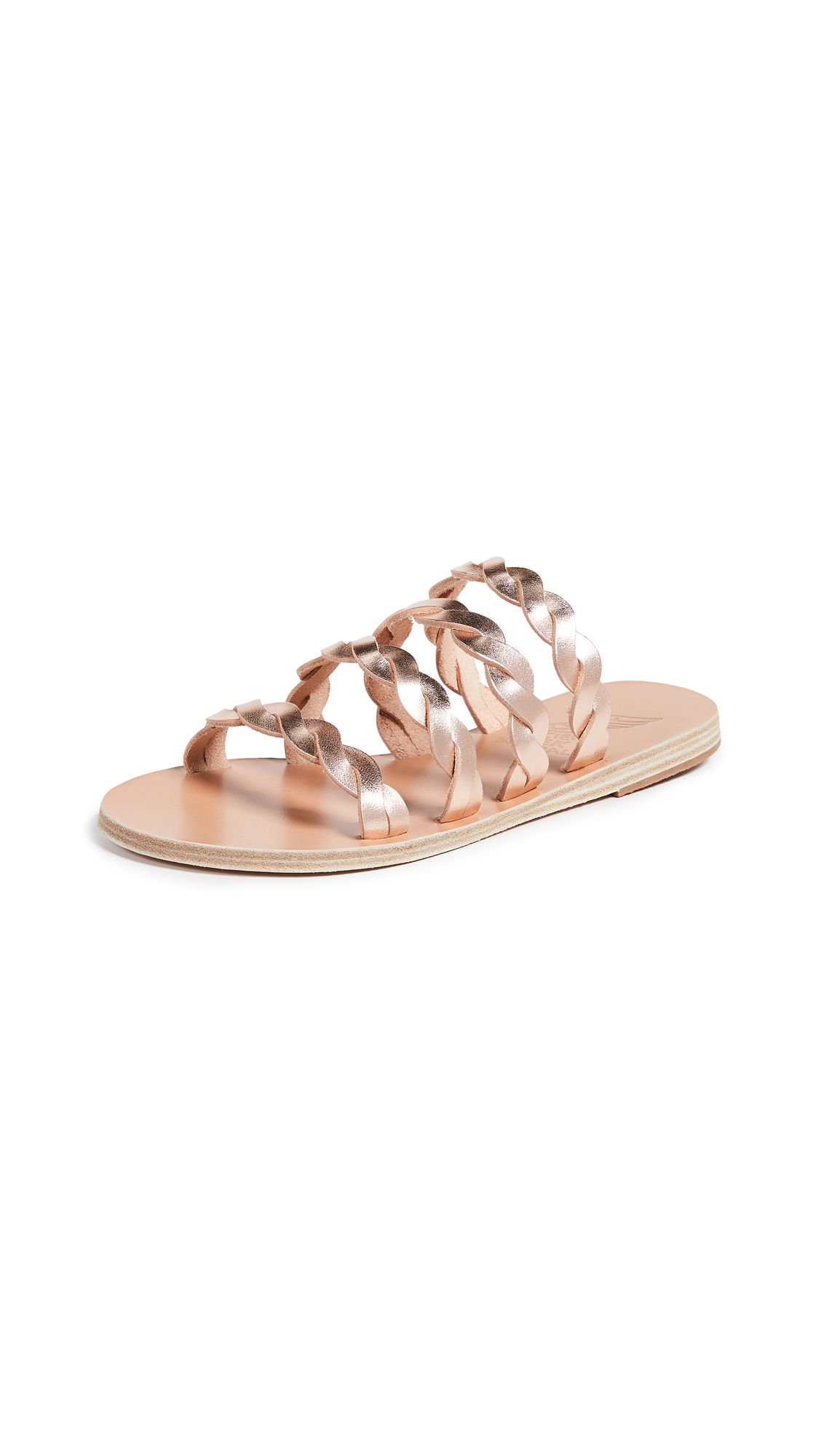 Ancient Greek Sandals Kynthia Slides - Pink Metal