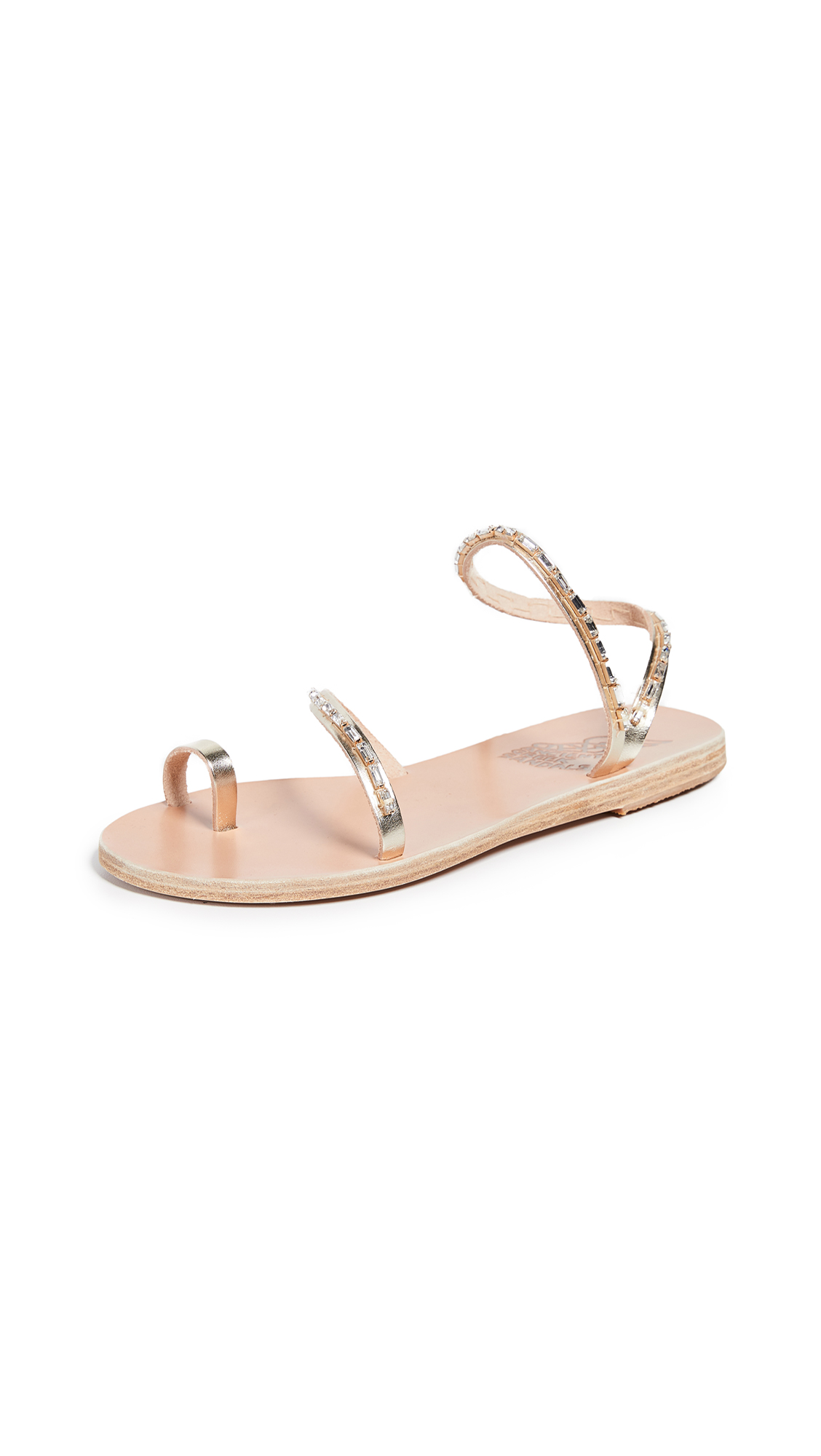 Ancient Greek Sandals Apli Eleftheria Diamonds Sandals - Platinum