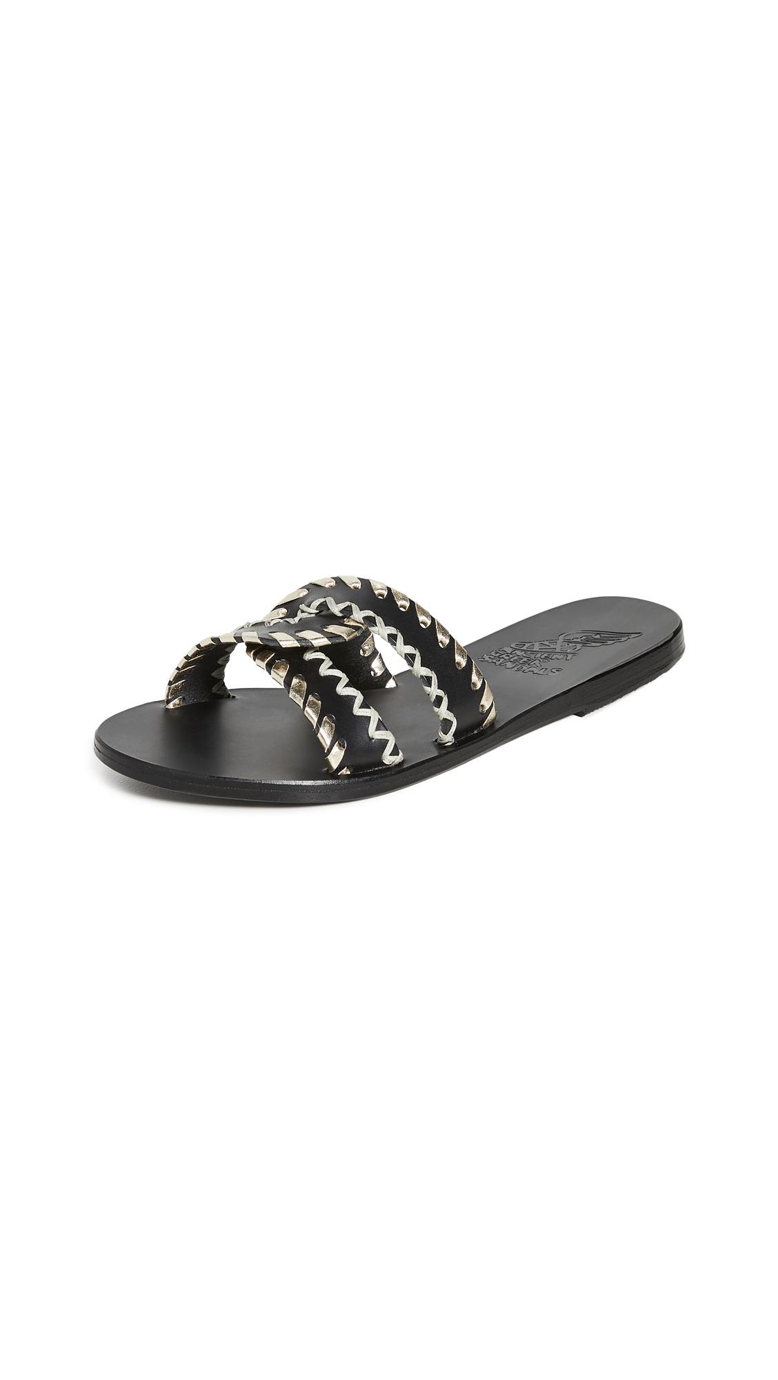 Buy Ancient Greek Sandals Desmos Stitch Slides online, shop Ancient Greek Sandals