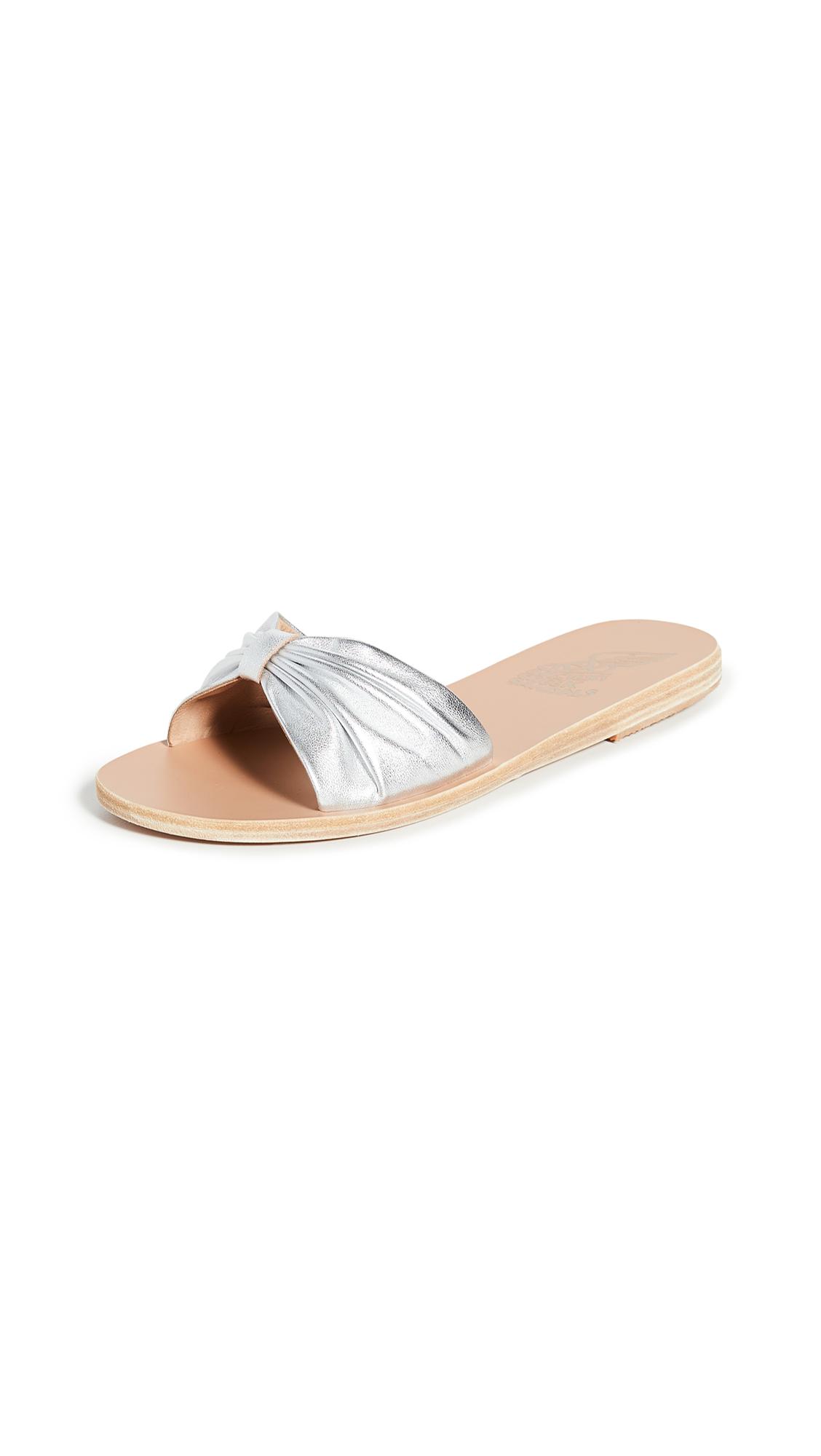 Buy Ancient Greek Sandals Mimi Bow Slides online, shop Ancient Greek Sandals