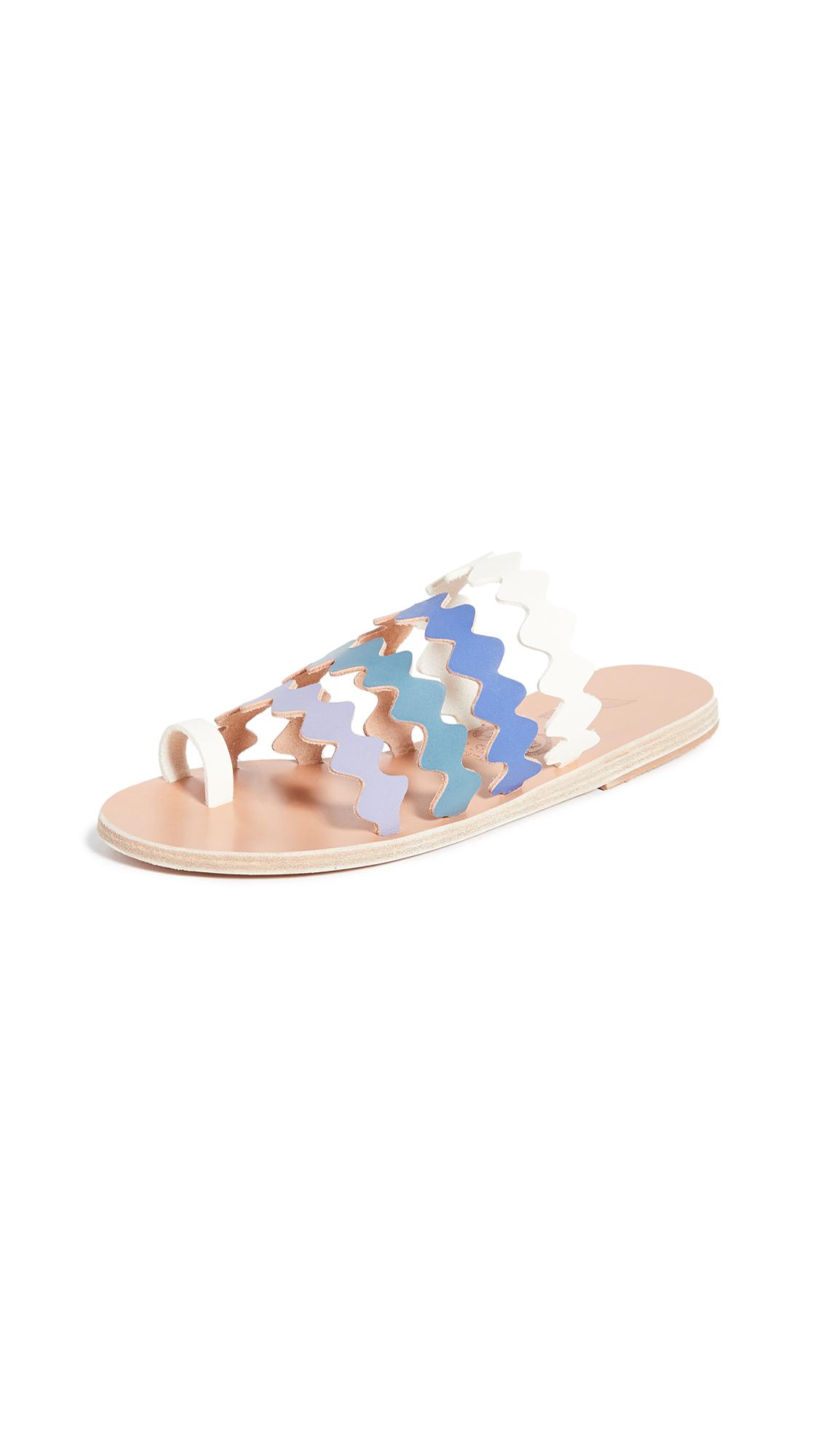 Buy Ancient Greek Sandals x Le Sirenuse Positano Niki Onda Sandals online, shop Ancient Greek Sandals