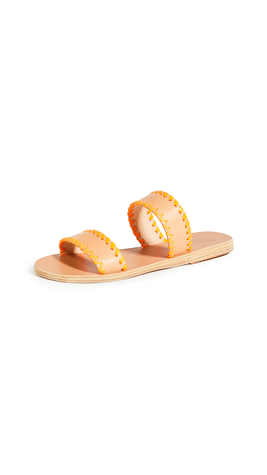 Buy Ancient Greek Sandals Melia Stitch Slides online, shop Ancient Greek Sandals