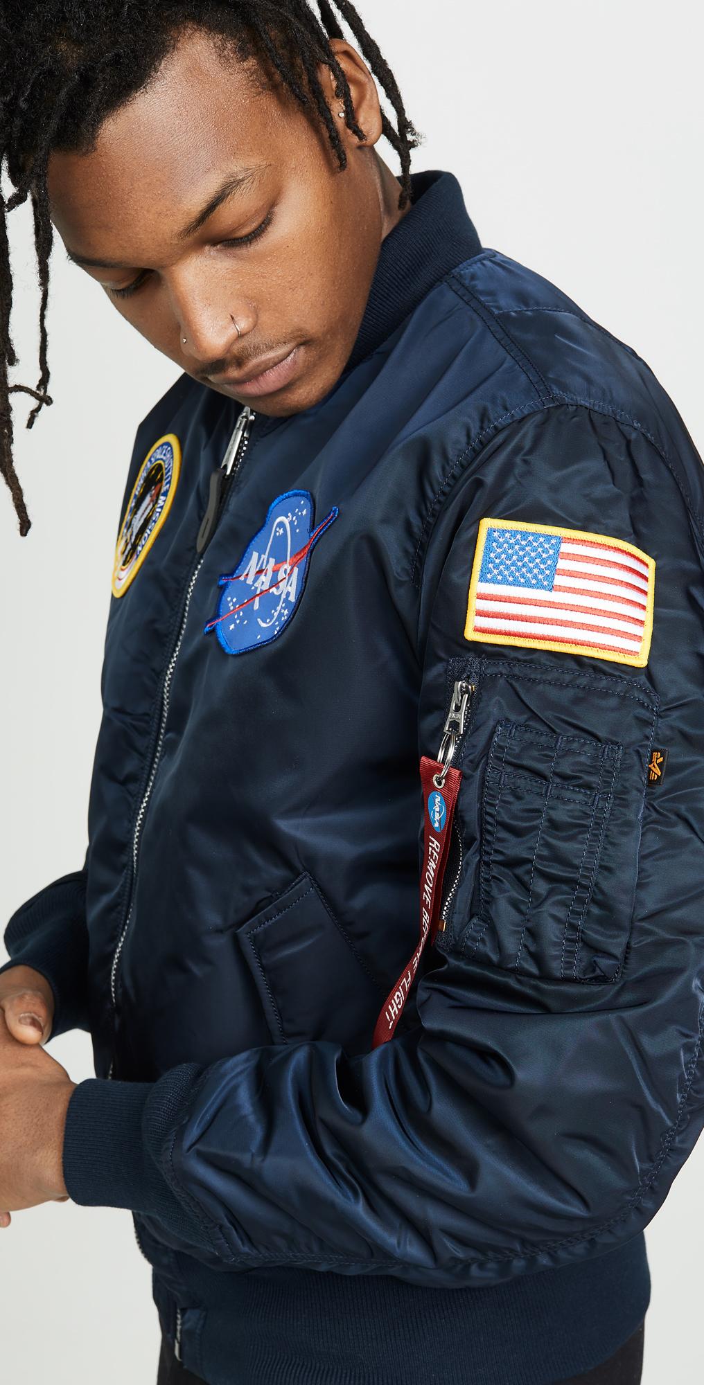 niska cena buty do biegania kupować Alpha Industries NASA MA-1 Flight Jacket | EASTDANE SAVE UP ...