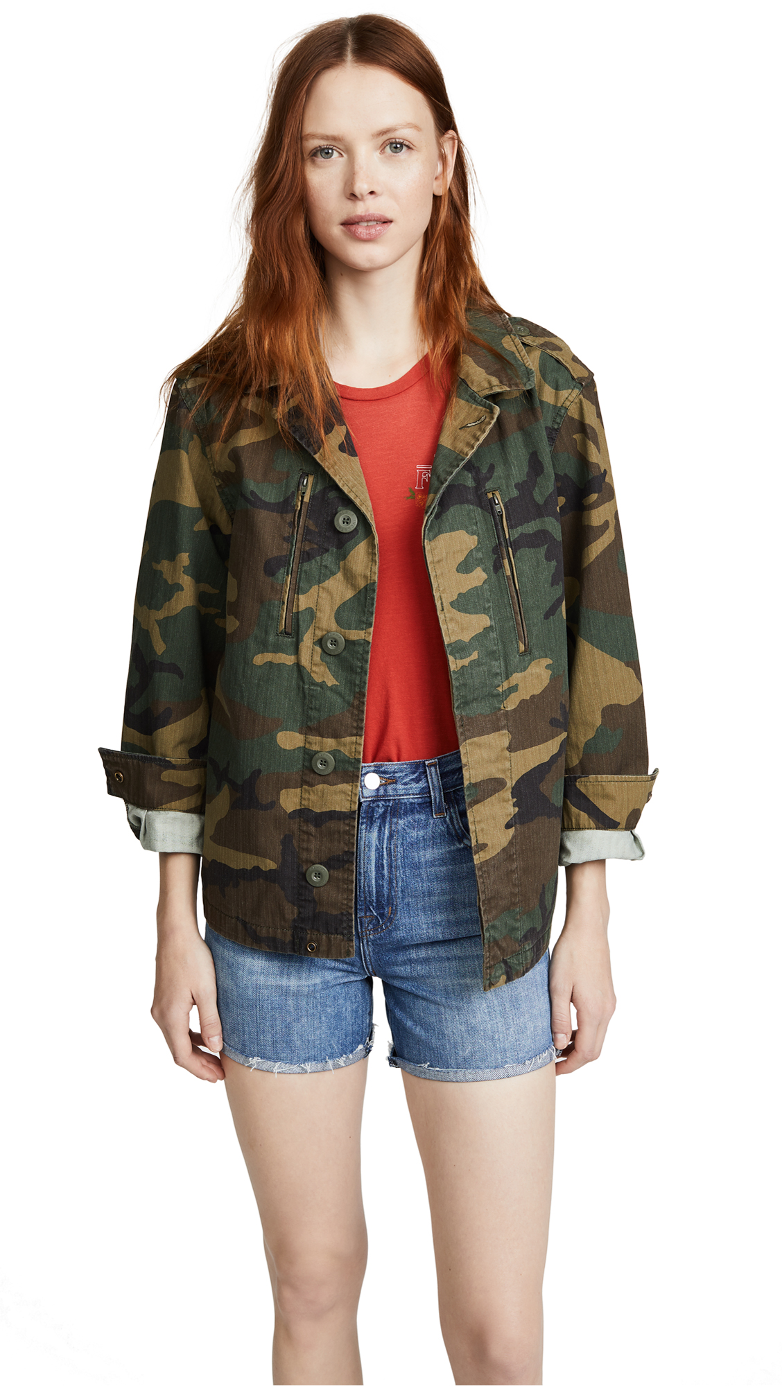 Alpha Industries French Field Coat - Woodland Camo