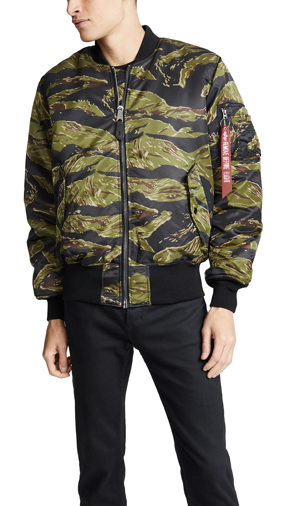 ALPHA INDUSTRIES MA-1 COALITION BLOOD CHIT FLIGHT JACKET