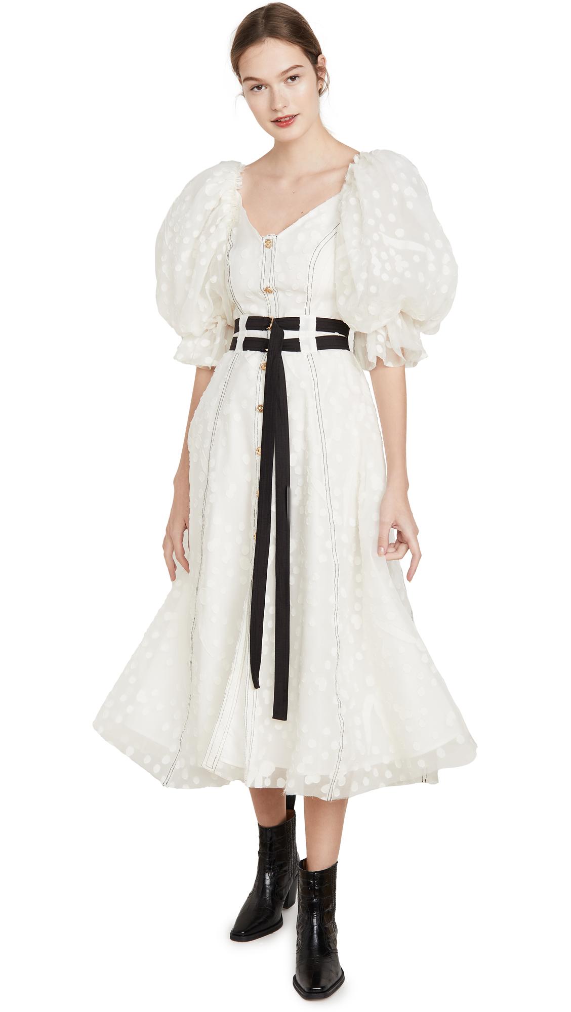 Buy Aje Eucalypt Burnout Midi Dress online beautiful Aje Clothing, Dresses