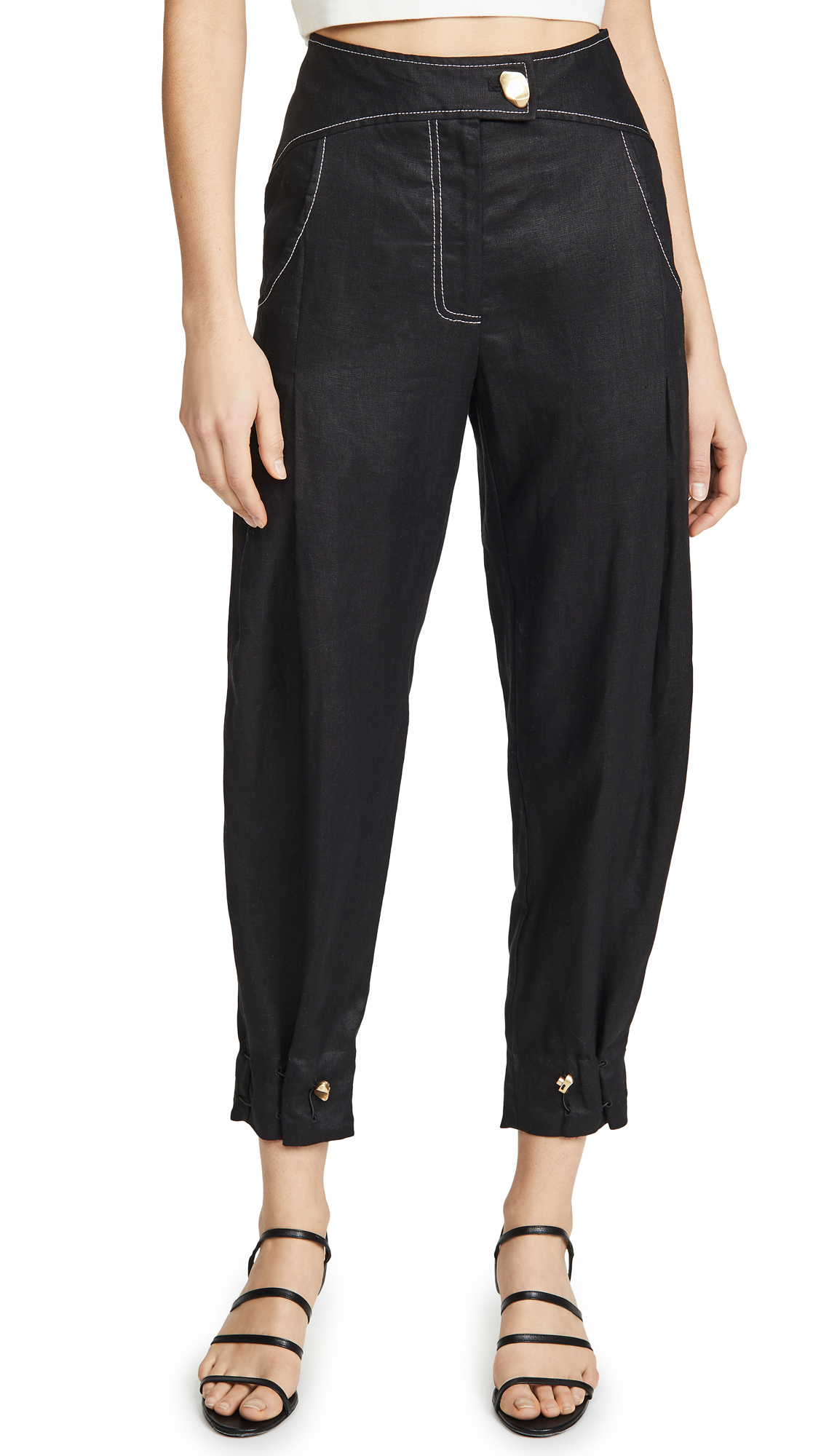 Buy Aje online - photo of Aje Mimosa Drawstring Trousers
