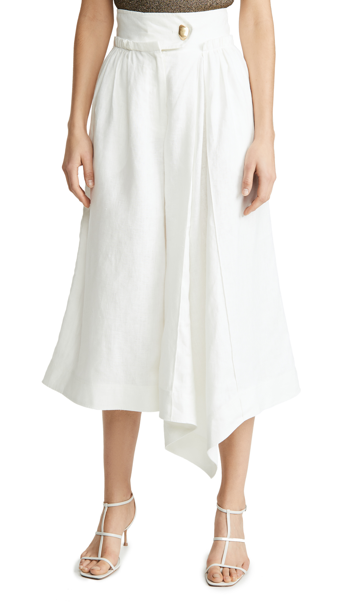 Buy Aje online - photo of Aje Mimosa Pleated Culottes