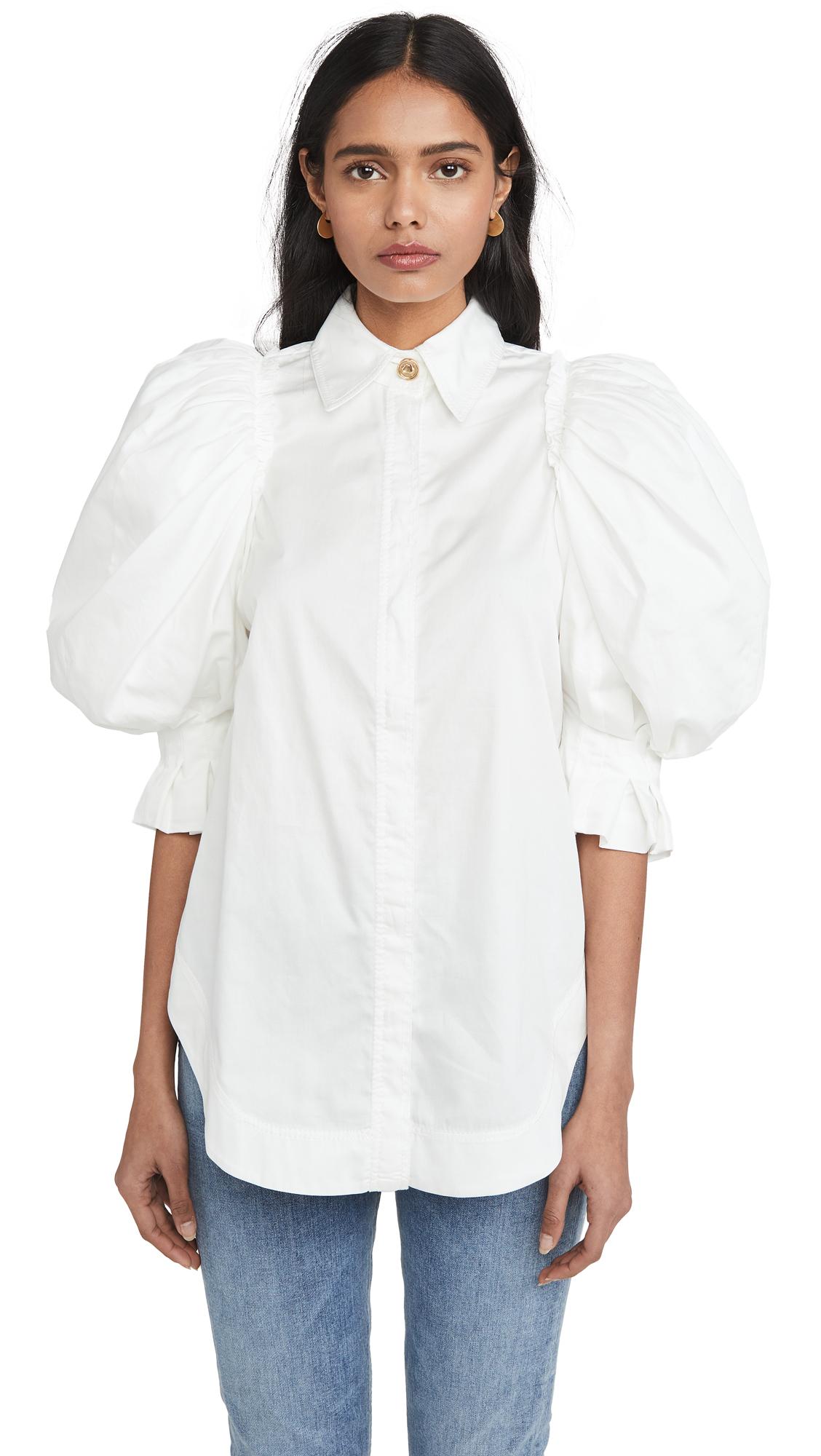 Buy Aje online - photo of Aje Eucalypt Puff Sleeve Shirt