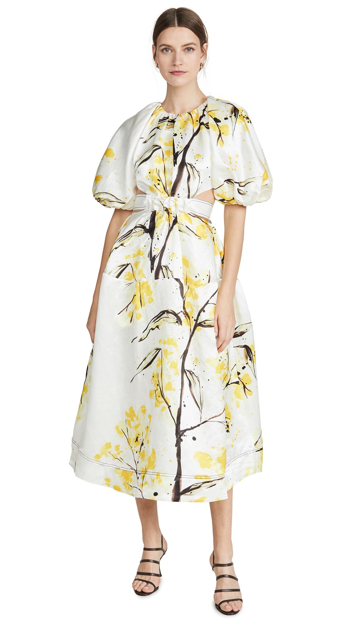 Buy Aje Mimosa Cutout Midi Dress online beautiful Aje Clothing, Dresses
