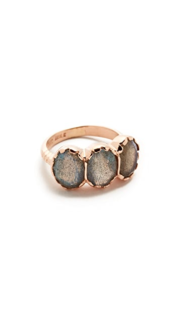 Arik Kastan Three Stone Oval Ring