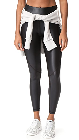 ALALA Captain Ankle Leggings - Black/Liquid Black