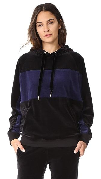 ALALA Velour Sweatshirt - Black/Navy