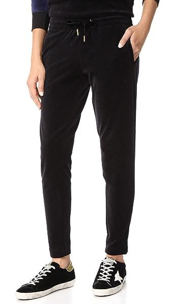ALALA Velour Sweatpants - Black/Navy