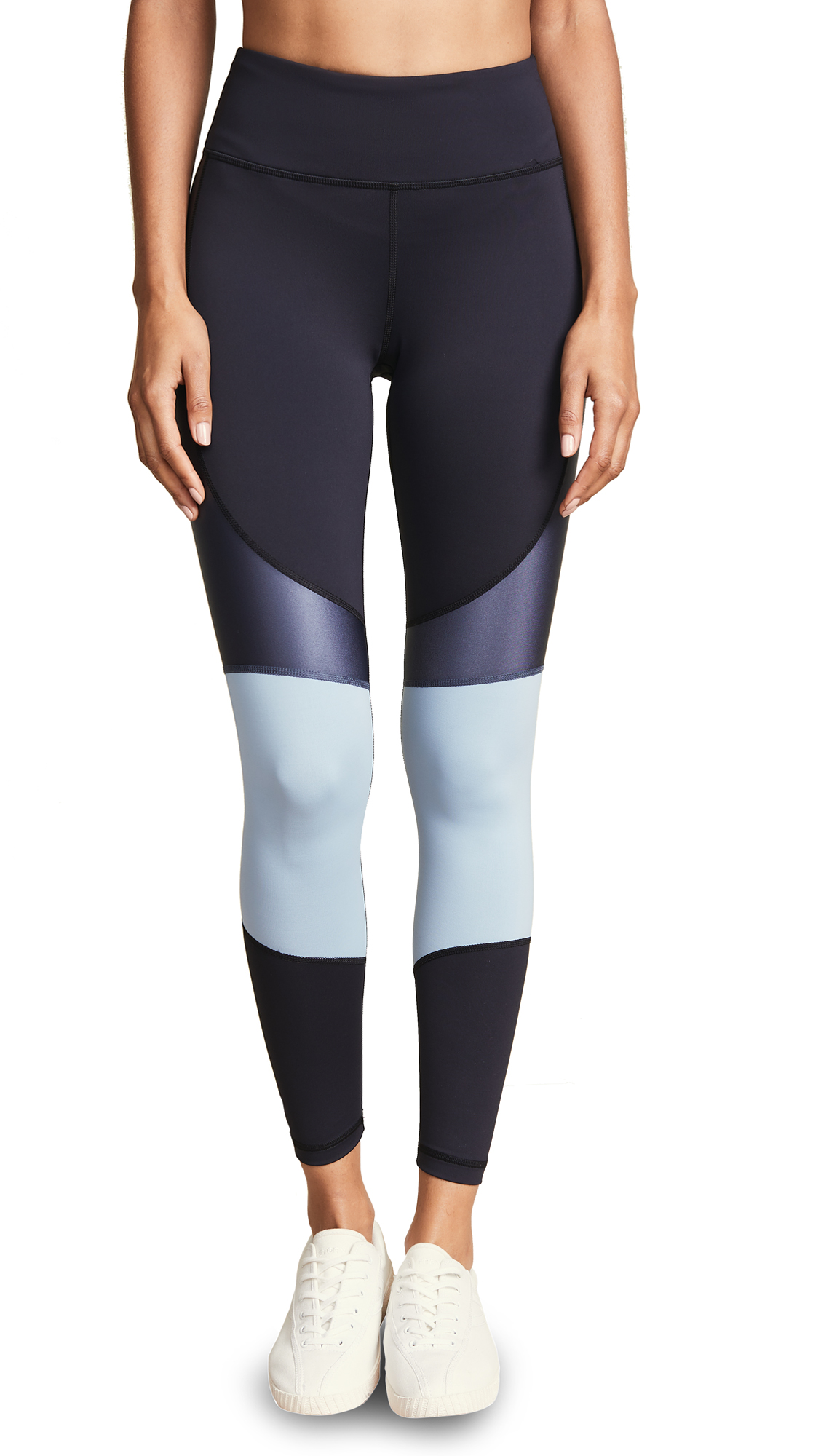 ALALA Vamp Colorblock Performance Tights in Ice Blue