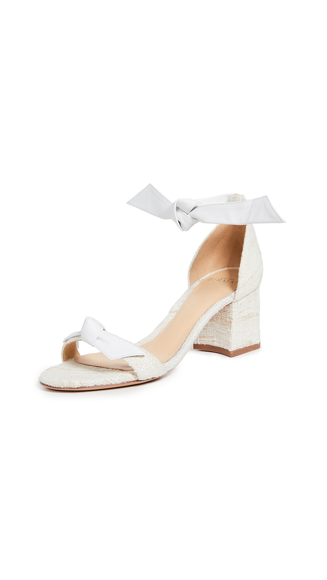 Alexandre Birman Clarita Block Sandals - White