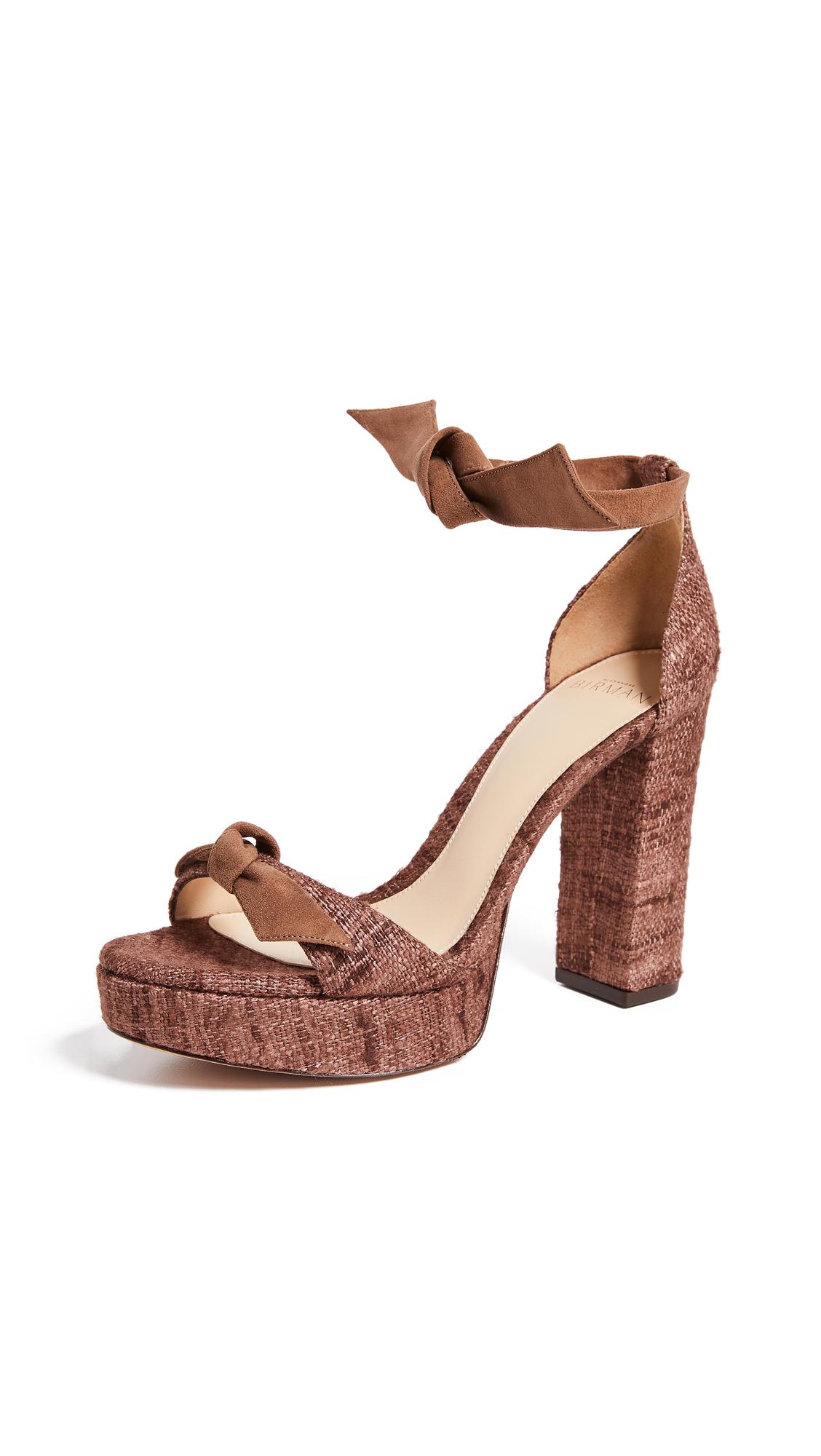 Alexandre Birman Clarita Platform Sandals - Cobble