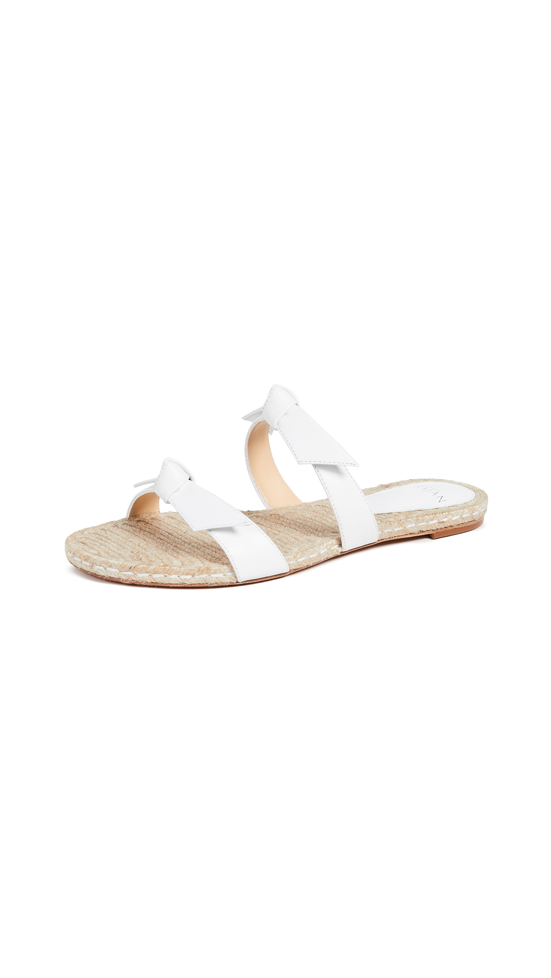Alexandre Birman Clarita Braided Flat Sandals - White/Natural