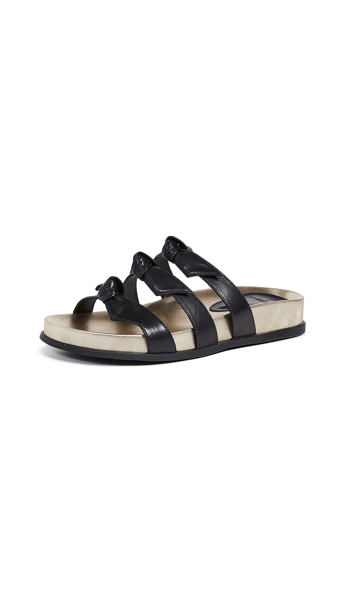 Alexandre Birman Lolita Pool Slides - Black/Golden